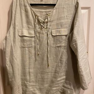 Ellen Tracy Company  Linen SHIRT XX-Large